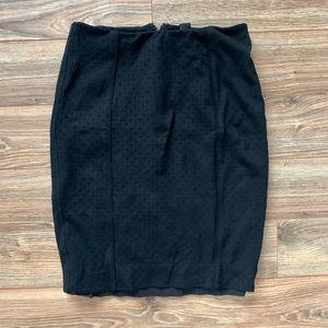 WHBM Black Pencil Skirt
